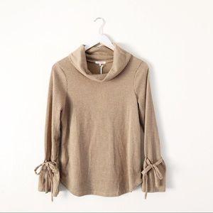 Anthro Pleione Turleneck Long Sleeve Sweater Top